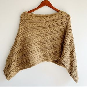Ann Taylor LOFT Cape Poncho Shrug Sweater